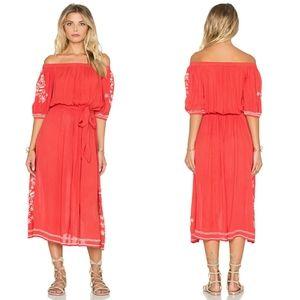 Tularosa Marty Midi Dress in Watermelon